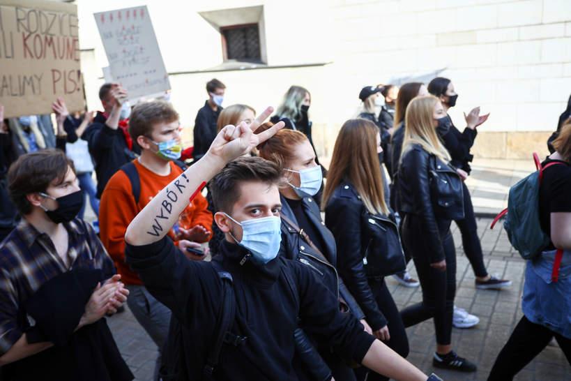 Strajk Kobiet, protesty, Kraków