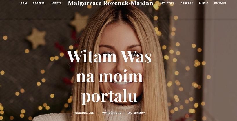 Strona internetowa Małgorzaty Rozenek-Majdan