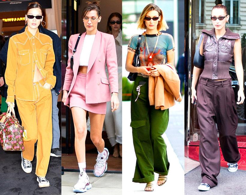 styl, Bella Hadid, street style