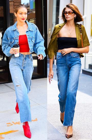 stylizacje gwiazd, jeansy