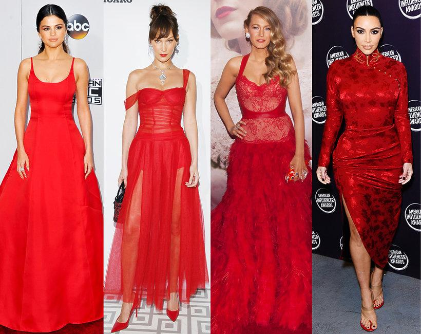 Stylizacje gwiazd, sukienki