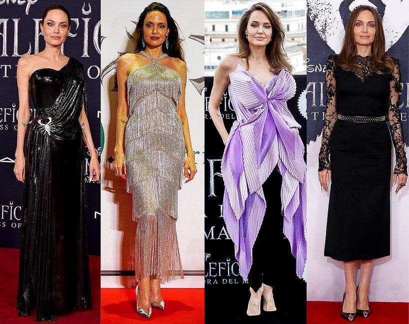 stylizacje na premierach filmu Czarownica 2, Angelina Jolie