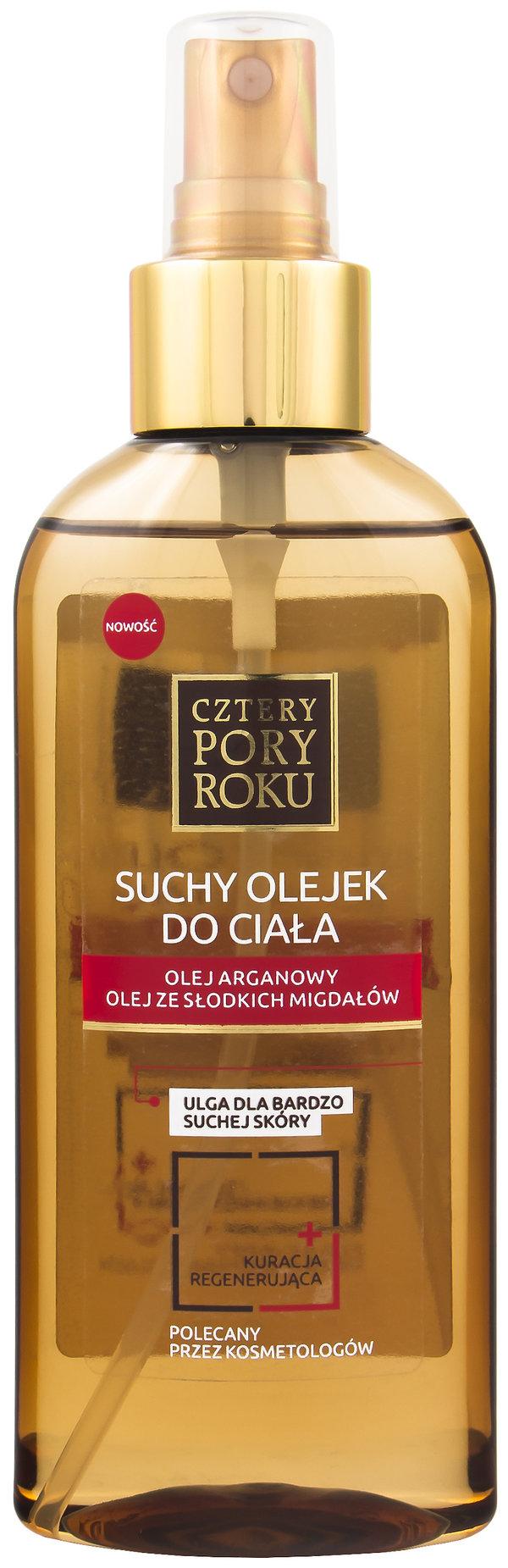 Suchy olejek do ciała, kuracja regenerująca CZTERY PORY ROKU, 5,99 zł.