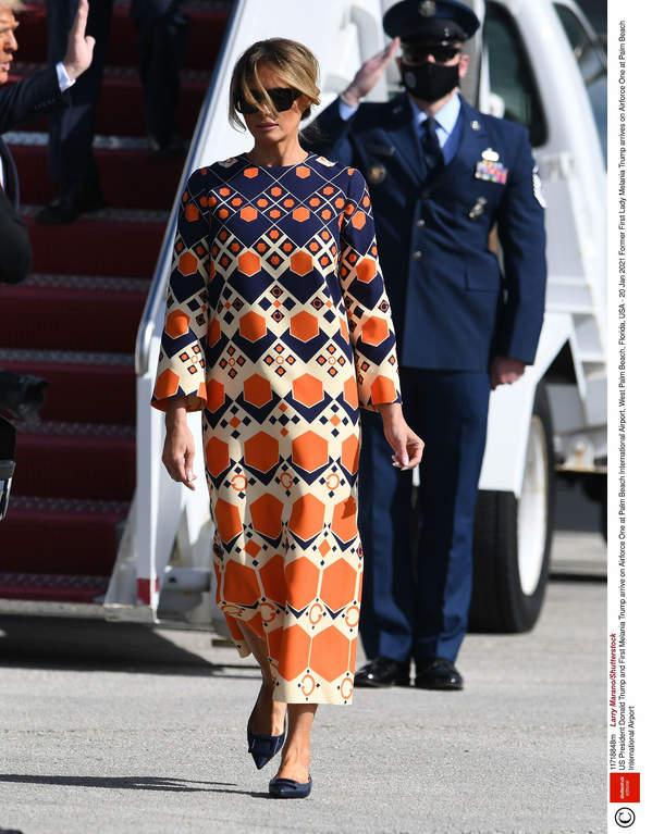 Sukienka maxi Melania Trump 2021