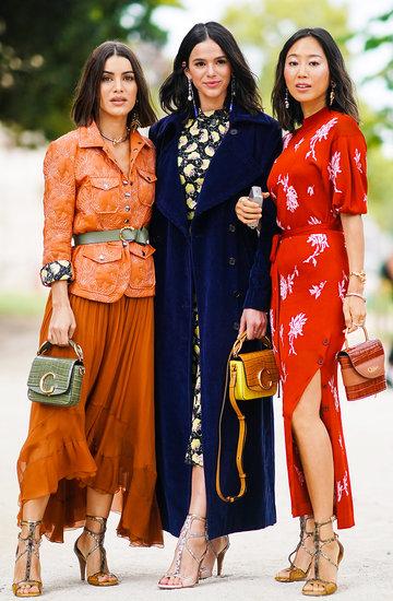 sukienki na jesień 2019, street style