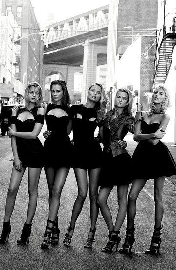 Supermodelki, polskie modelki, Anja Rubik, Ania Jagodzińska, Magda Frąckowiak, Kasia Struss, Monika Jagaciak, Viva! 2010