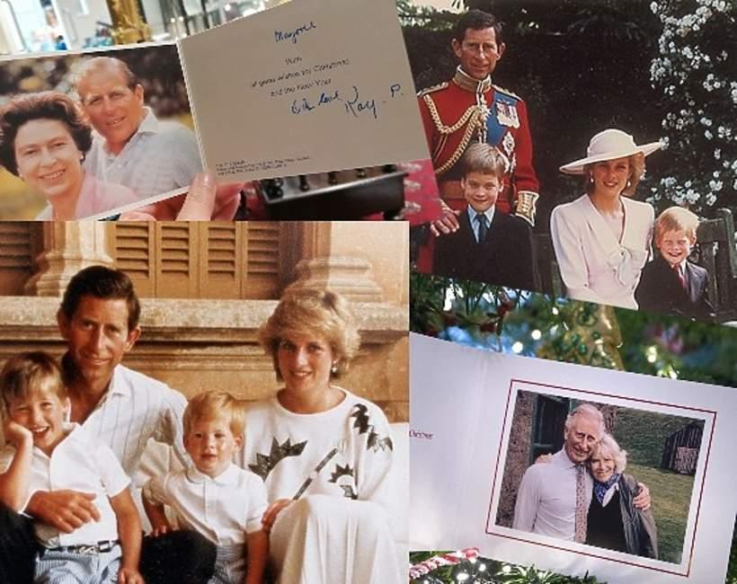 Świąteczne kartki brytyjskiej rodziny królewskiej