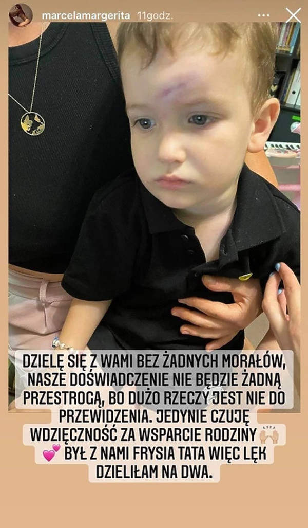 Syn Marceli Leszczak i Miśka Koterskiego miał wypadek