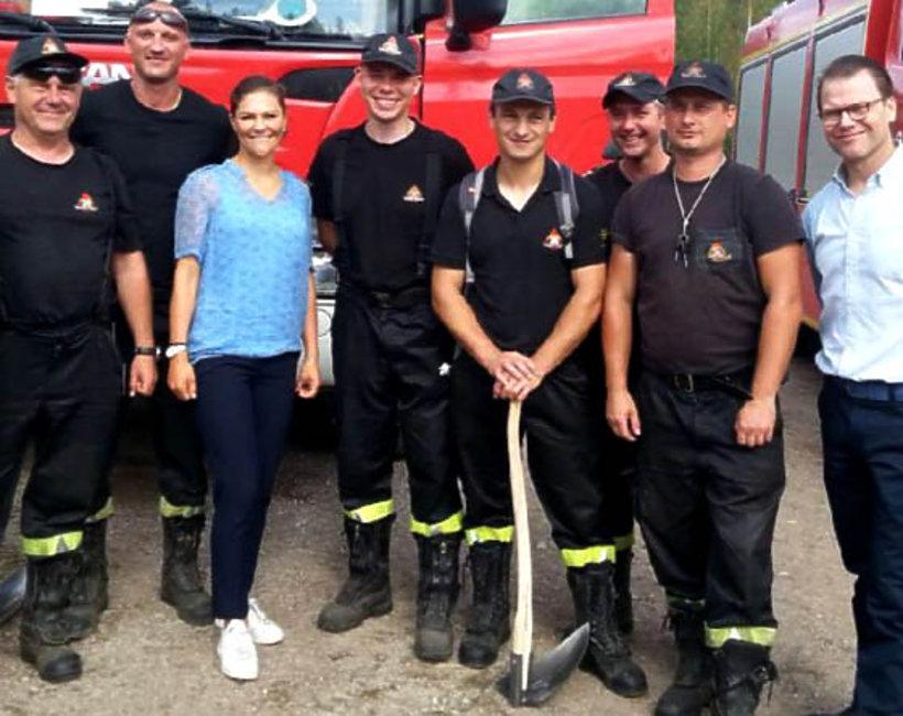 Szwedzka księżniczka Wiktoria odwiedziła polskich strażaków