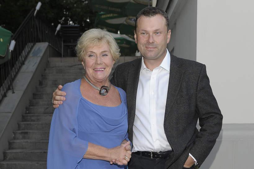 Teresa Lipowska z synem, Marcin Zaliwski