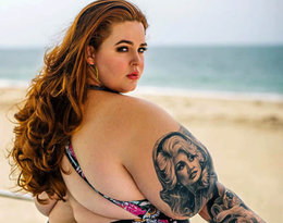 Najsłynniejsza modelka XXL waży 140 kilogramów. Teraz pokazała się w bikini na plaży