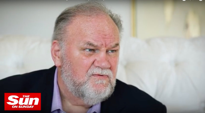 Thomas Markle, ojciec Meghan, The Sun