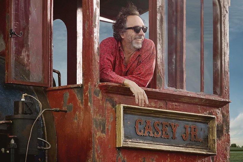 Tim Burton na planie Dumbo
