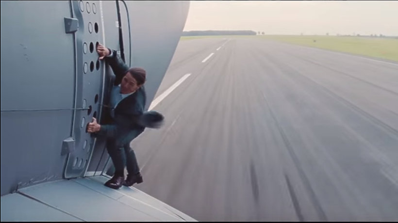 Tom Cruise jako kaskader w Mission Impossible