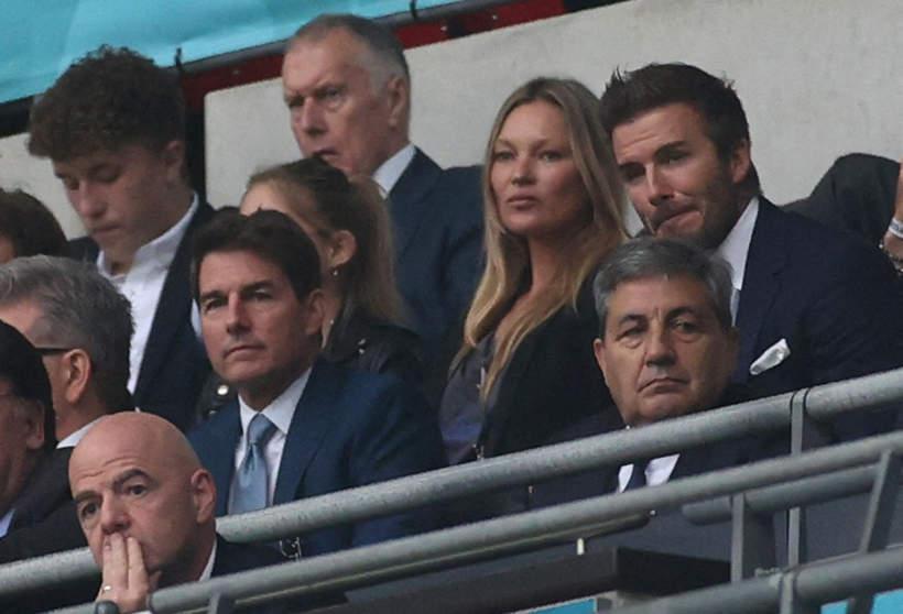 Tom Cruise, Kate Moss i David Beckham na finale Euro 2020