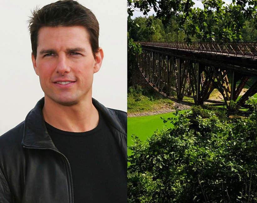 Tom Cruise, most nad Jeziorem Pilchowickim