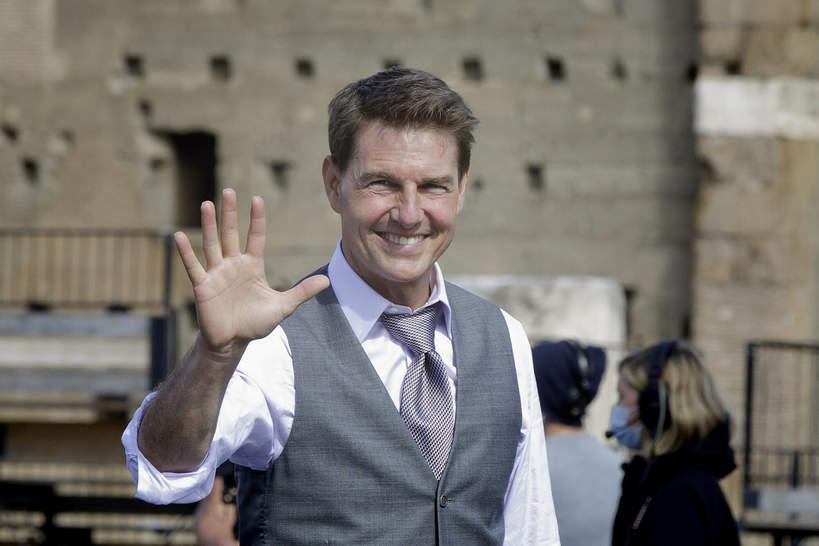 Tom Cruise na planie Mission Impossible w Rzymie, 2020
