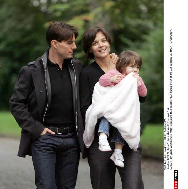 Tom Cruise, Suri Cruise, Katie Holmes, 2007
