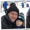 Tomasz Karolak w Zakopanem z dziećmi