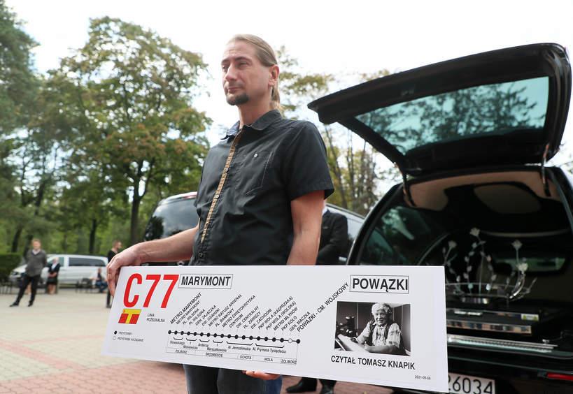 Tomasz Knapik pogrzeb, czytał w ZTM