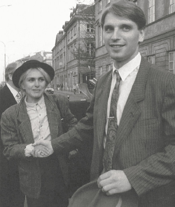 Tomasz Lis i Monika Olejnik, maj 1991