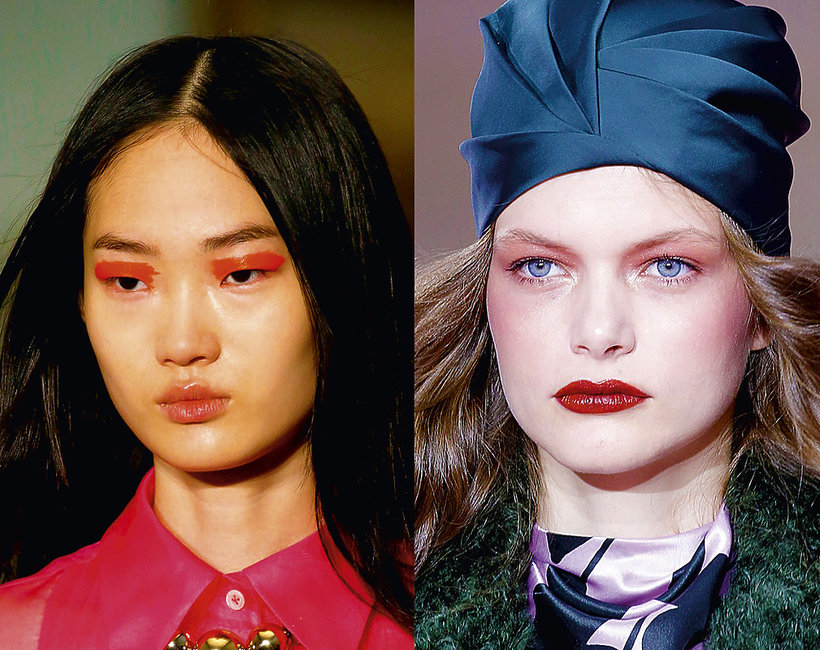 trendy makijaże jesień zima 2019/2020 Nowy Jork