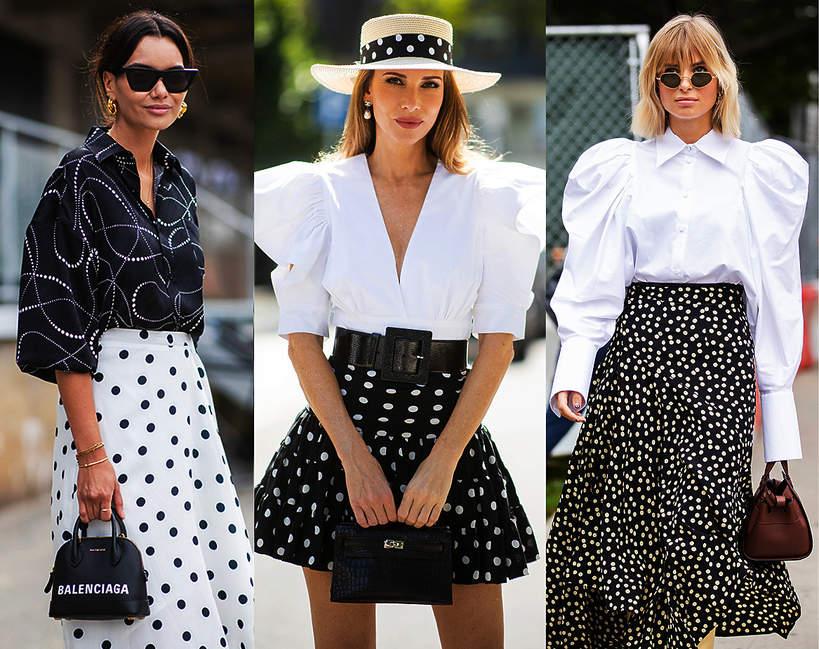 trendy-na-lato-2020-jak-nosic-spodnice-w-grochy-z-modnymi-koszulami