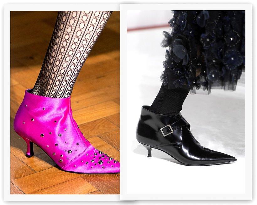 trendy z wybiegów, botki na jesień 2019, Erdem, Dior