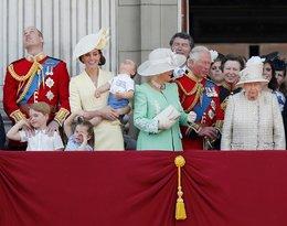 Trooping the Colour, brytyjska rodzina królewska