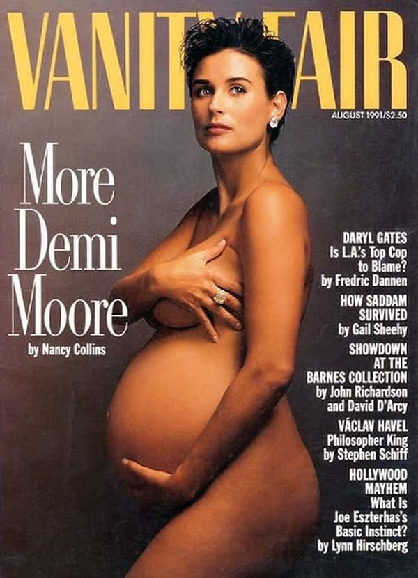 Vanity Fair Demi Moore nago w ciąży
