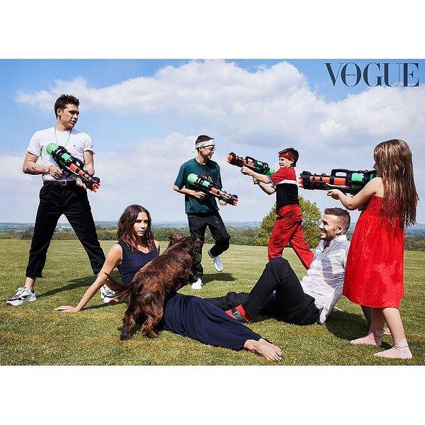 Victoria Beckham, rodzina Beckhamów na okładce VOGUE'A