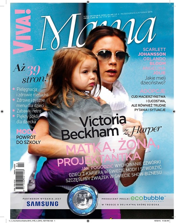 Victoria Beckham z córką Harper na okładce Viva! Moda