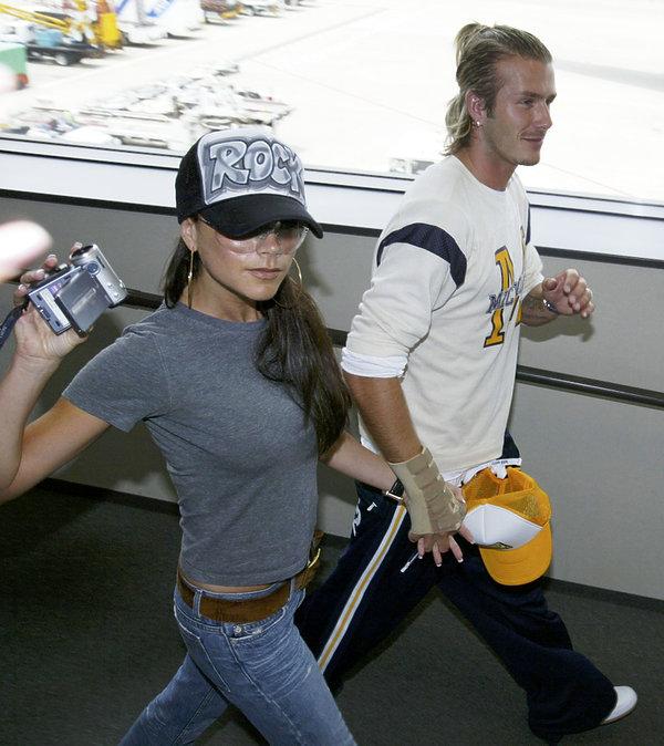 Victoria i David Beckham 2003