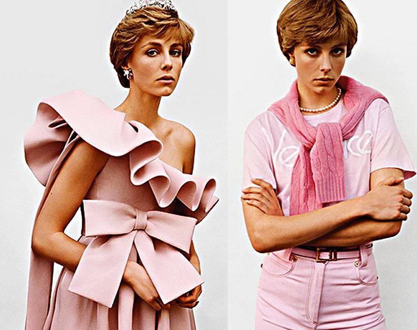 Vogue Paris, modelka Edie Campbell jak księżna Diana