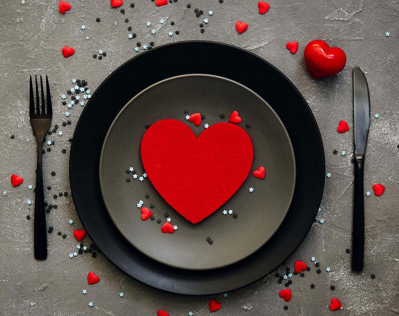 Walentynki, kolacja walentynkowa