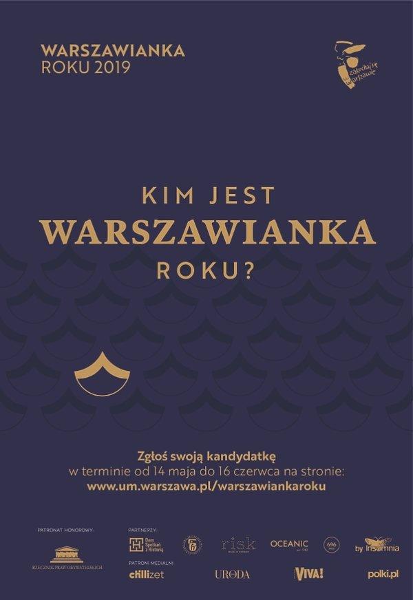 Warszawianka Roku 2019 plakat
