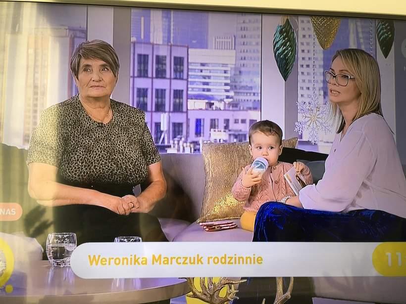 Weronika Marczuk z córką i mamą