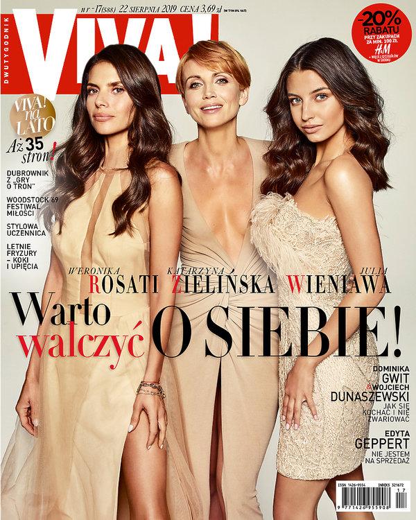 Weronika Rosati, Katarzyna Zielińska, Julia Wieniawa, VIVA! nr 17, sierpień 2019 OKŁADKA