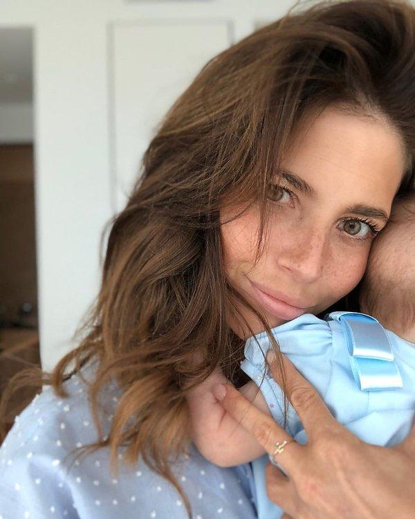 Weronika Rosati z córką, córka Weroniki Rosati