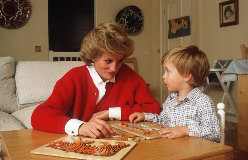 William jako dziecko, księżna Diana i książęWilliam