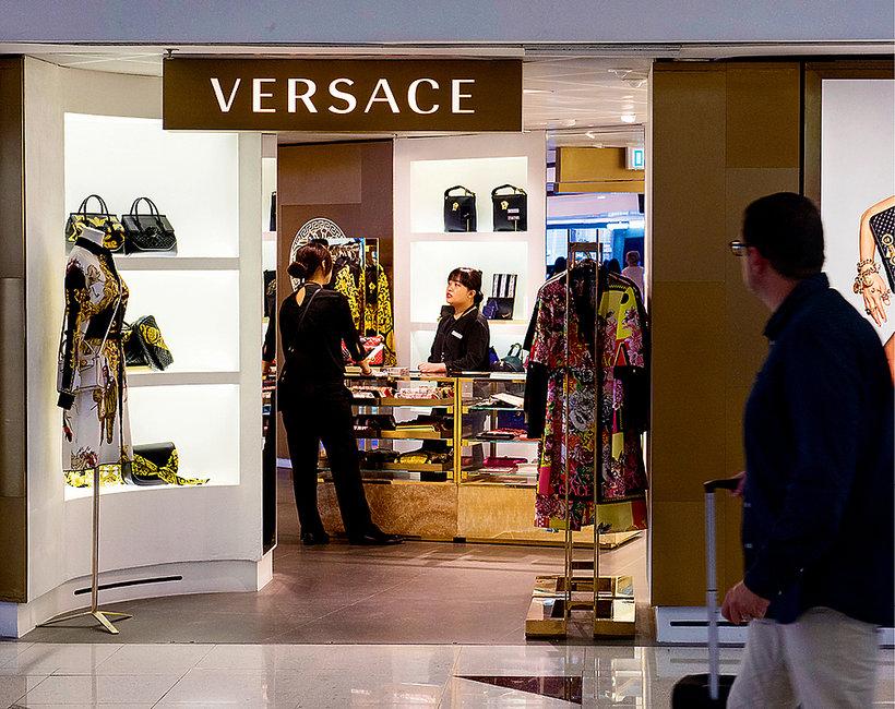 witryna Versace, logo, sklep