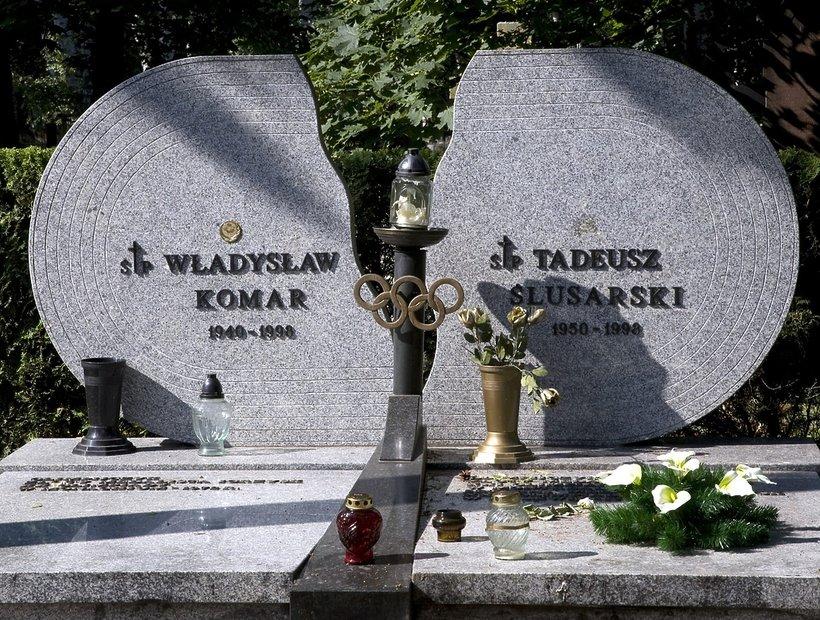 Władysław Komar i Tadeusz Ślusarski - grób