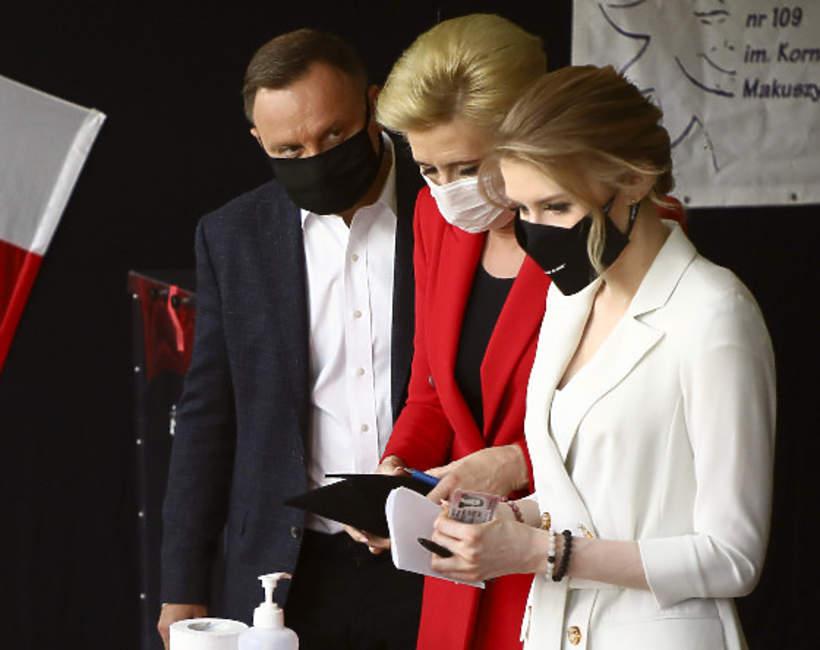 Wybory prezydenckie 2020 Andrzej Duda, Agata Duda, Kinga Duda