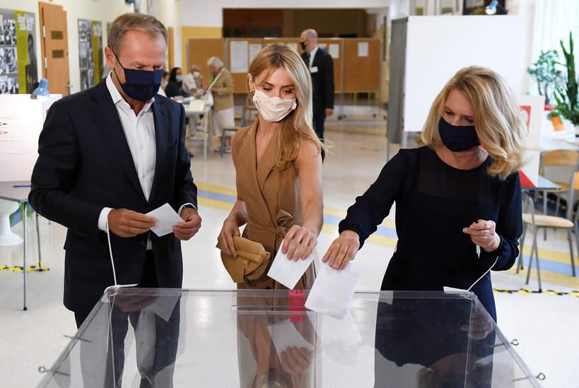 Wybory prezydenckie 2020: Kasia Tusk, Donald Tusk, Małgorzata Tusk