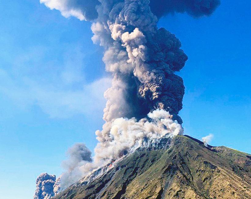 wybuch Stromboli 2019