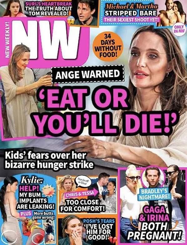 wychudzona Angelina Jolie, okładka New Weekly 2020