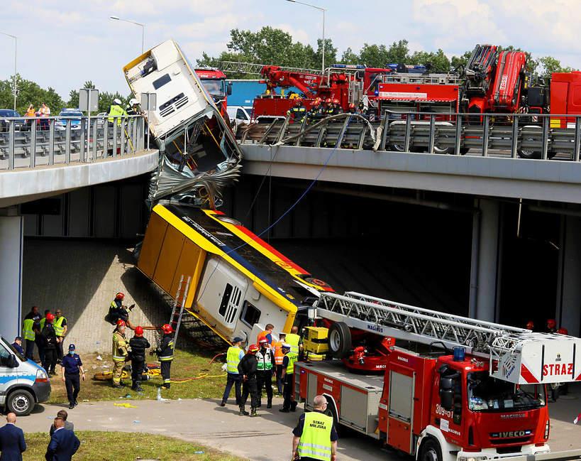 Wypadek autobusu 186 w Warszawie, relacje świadków