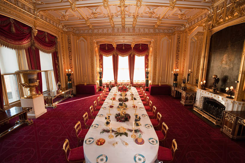 Zamek Windsor: The State Dining Room