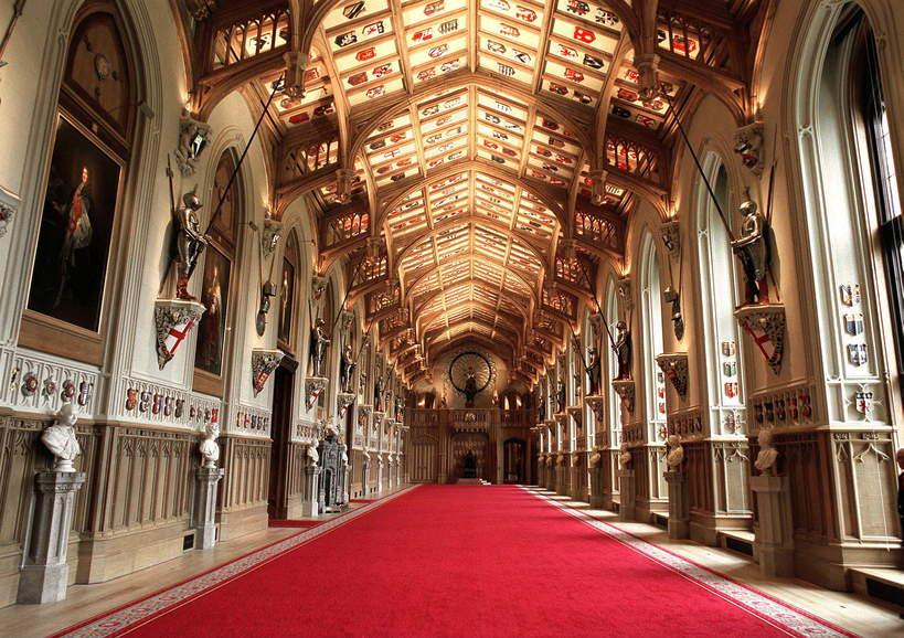 Zamek Windsor wnętrza: Hall świętego Jerzego