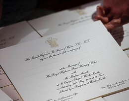 Zaproszenia na ślub księcia Harry'ego i Meghan Markle